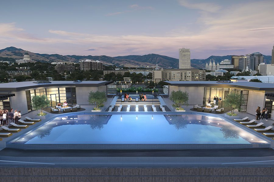 Pet Friendly Apartments With A Rooftop Pool Sports Club